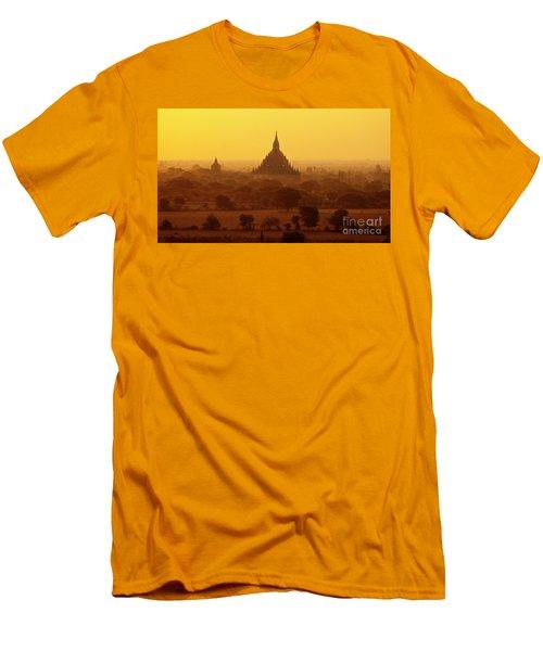 Men's T-Shirt (Slim Fit) featuring the photograph Burma_d2227 by Craig Lovell