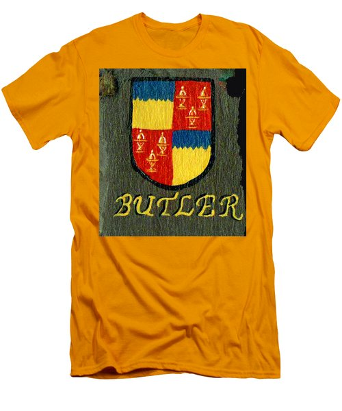 Men's T-Shirt (Slim Fit) featuring the painting Butler Family Shield by Barbara McDevitt