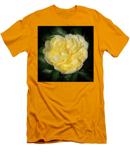 Buttercream Peony Men's T-Shirt (Athletic Fit)