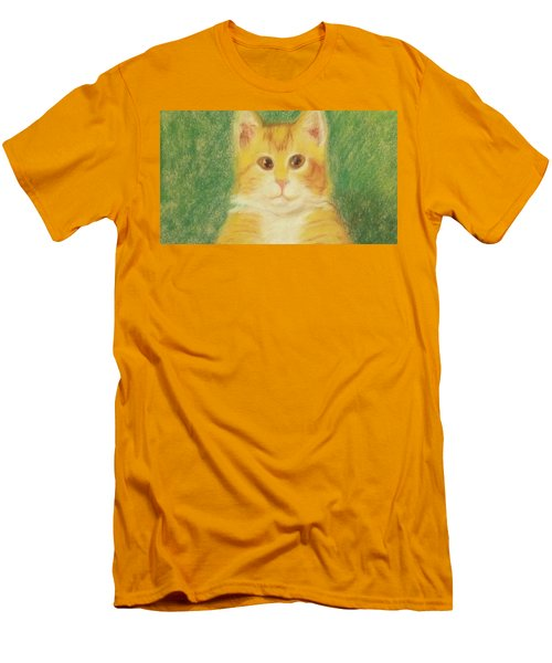 Men's T-Shirt (Athletic Fit) featuring the drawing Buttercup by Denise Fulmer