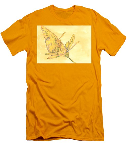 Butterfly  Men's T-Shirt (Slim Fit) by Versel Reid