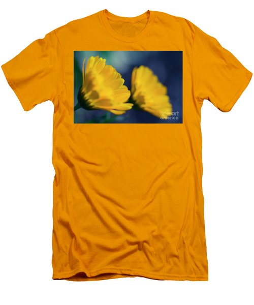 Men's T-Shirt (Slim Fit) featuring the photograph Calendula Flowers by Sharon Mau