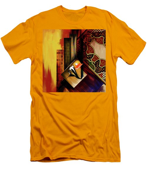 Men's T-Shirt (Slim Fit) featuring the painting Calligraphy 102  2 1 by Mawra Tahreem