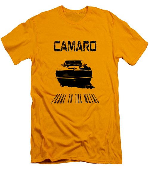 Men's T-Shirt (Slim Fit) featuring the photograph Camaro Ss - Pedal To The Metal by Kim Gauge