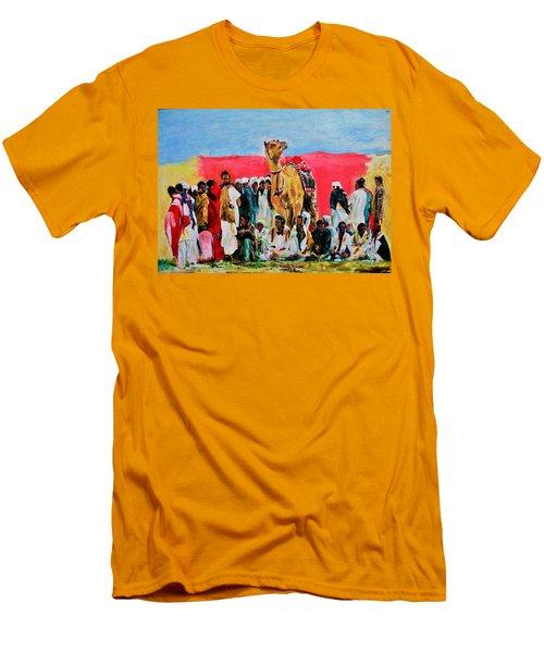 Camel Festival Men's T-Shirt (Slim Fit) by Khalid Saeed