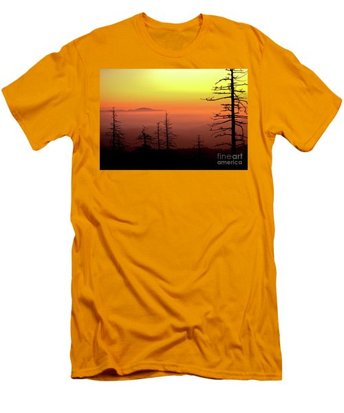 Men's T-Shirt (Slim Fit) featuring the photograph Candy Corn Sunrise by Douglas Stucky
