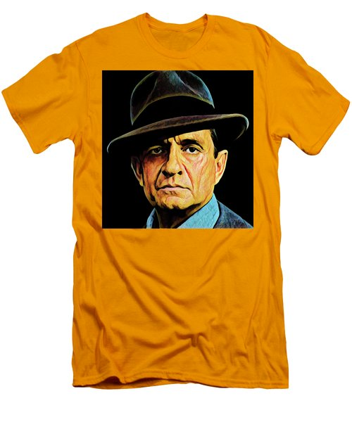 Cash With Hat Men's T-Shirt (Slim Fit) by Gary Grayson