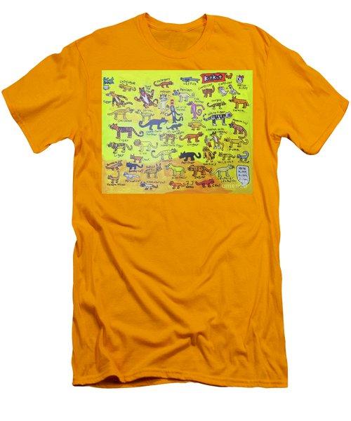 Cat Styles Men's T-Shirt (Athletic Fit)