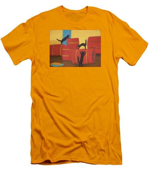 Cats Men's T-Shirt (Slim Fit) by Vladimir Kholostykh