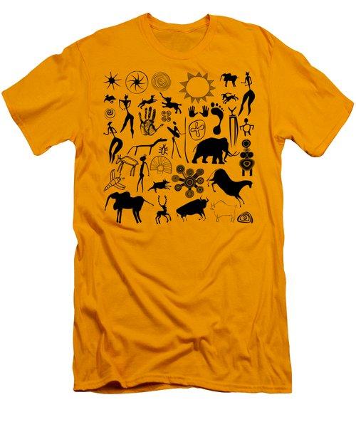 Cave Painting Men's T-Shirt (Slim Fit) by Michal Boubin