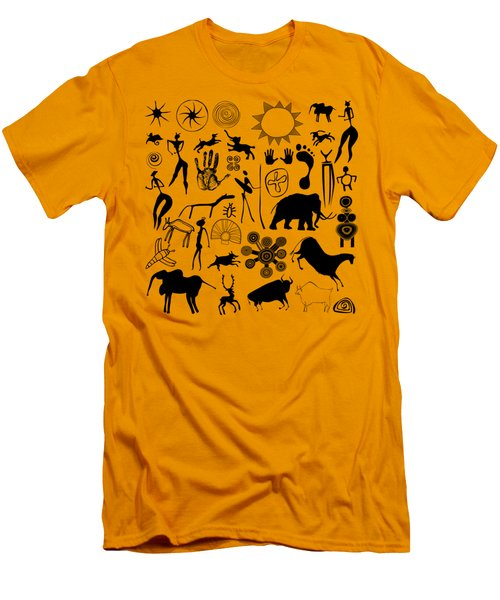 Cave Painting Men's T-Shirt (Athletic Fit)