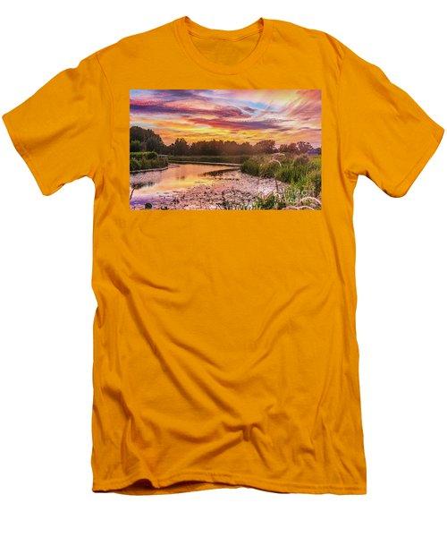 Celebrating Sky Men's T-Shirt (Athletic Fit)