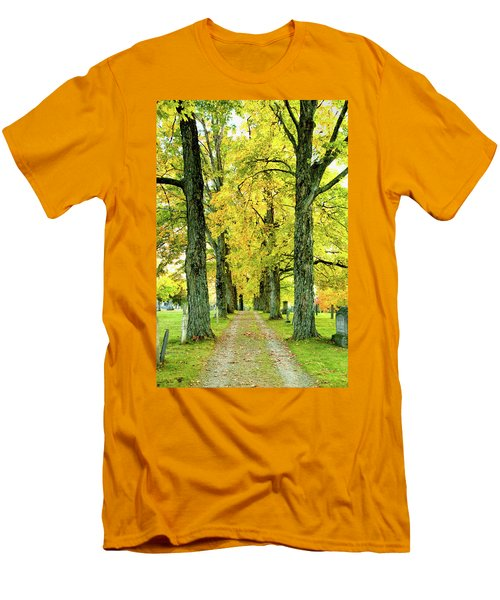 Men's T-Shirt (Slim Fit) featuring the photograph Cemetery Lane by Greg Fortier