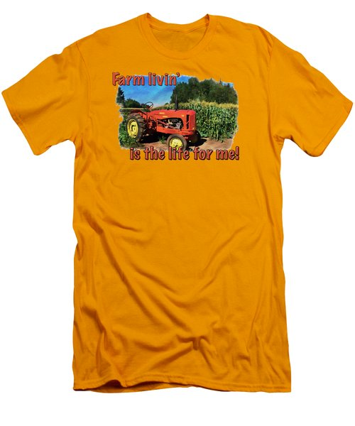 Charlie The Tractor Men's T-Shirt (Slim Fit) by Richard Farrington