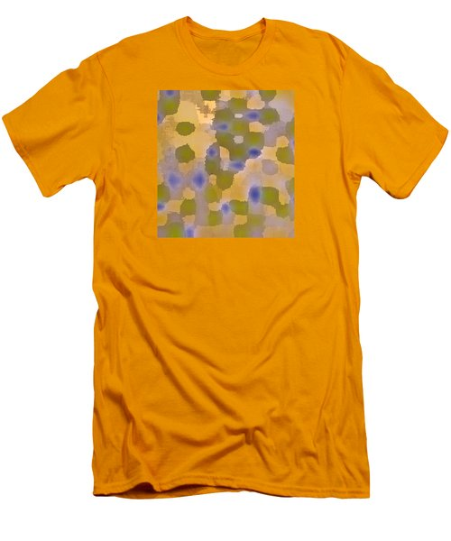 Chartreuse Two  By Rjfxx. Original Abstract Art Painting. Men's T-Shirt (Slim Fit) by RjFxx at beautifullart com