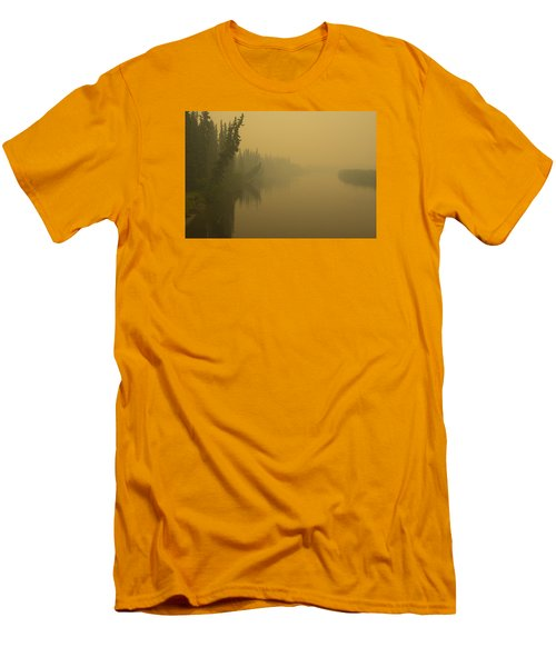 Chena River Men's T-Shirt (Slim Fit) by Gary Lengyel