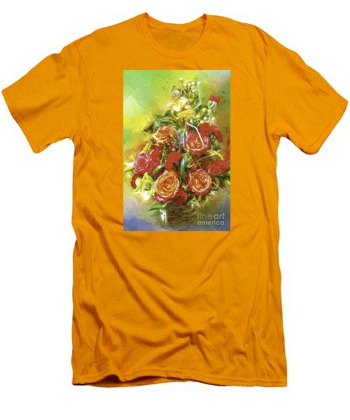 Cheryls Bouquet Men's T-Shirt (Slim Fit) by Ken Frischkorn