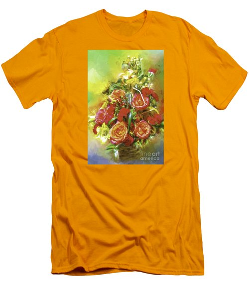 Cheryls Bouquet Men's T-Shirt (Athletic Fit)