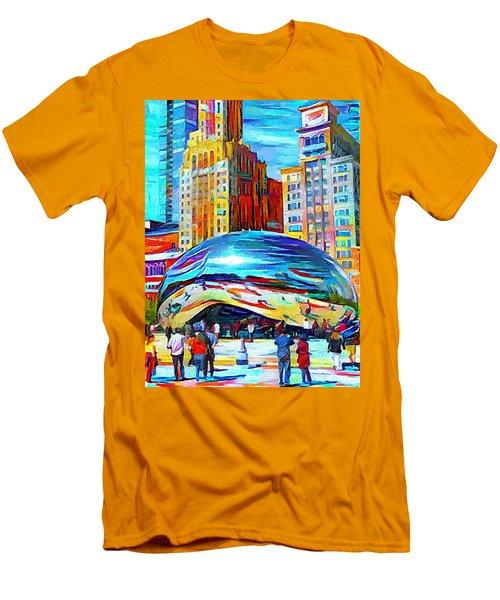 Chicago Millennium  Men's T-Shirt (Athletic Fit)