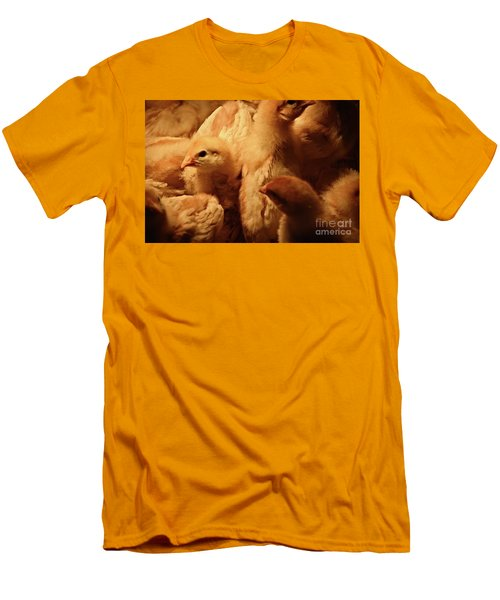 Men's T-Shirt (Slim Fit) featuring the photograph Chicks by Mary Machare