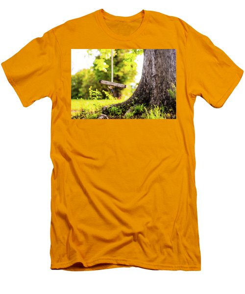 Men's T-Shirt (Slim Fit) featuring the photograph Childhood Memories by Shelby Young