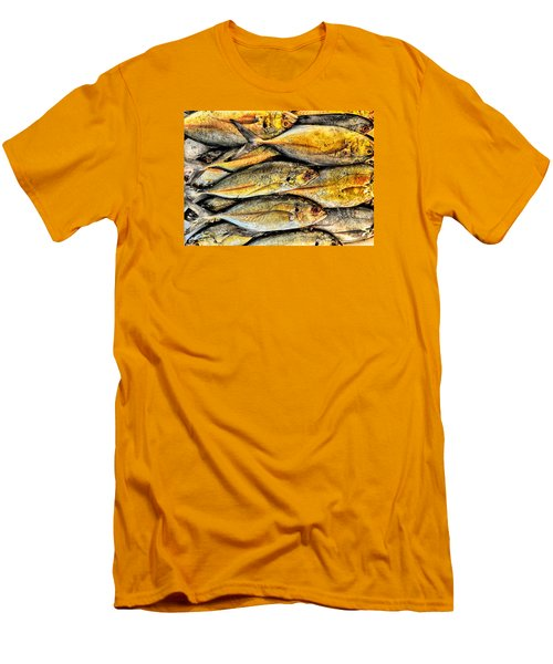 Chinatown Fish Market Nyc Men's T-Shirt (Slim Fit) by Steve Archbold