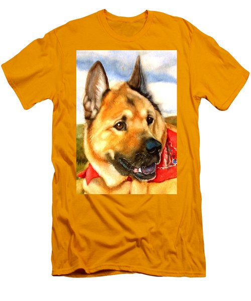 Chow Shepherd Mix Men's T-Shirt (Athletic Fit)