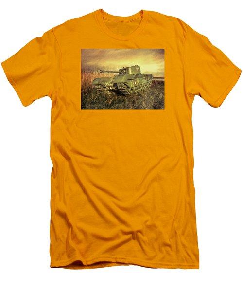 Churchill Tank Men's T-Shirt (Slim Fit) by Roy McPeak