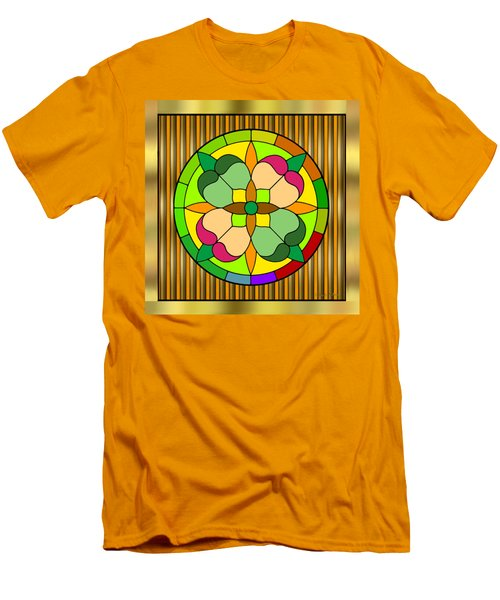 Circle On Bars 2 Men's T-Shirt (Slim Fit)