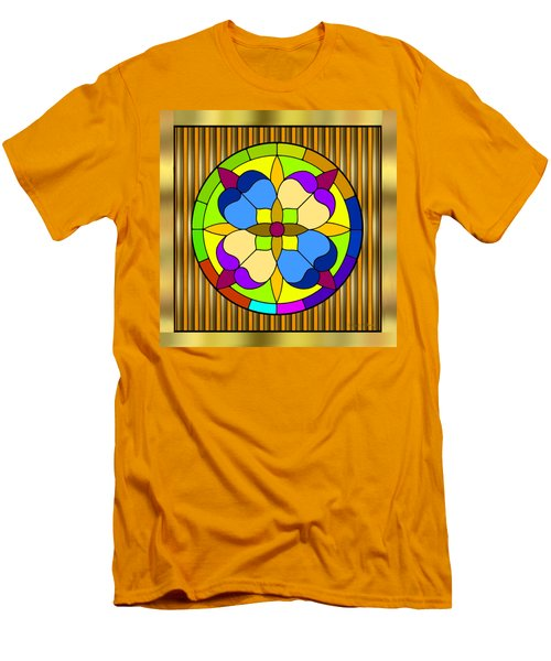 Circle On Bars 3 Men's T-Shirt (Slim Fit) by Chuck Staley