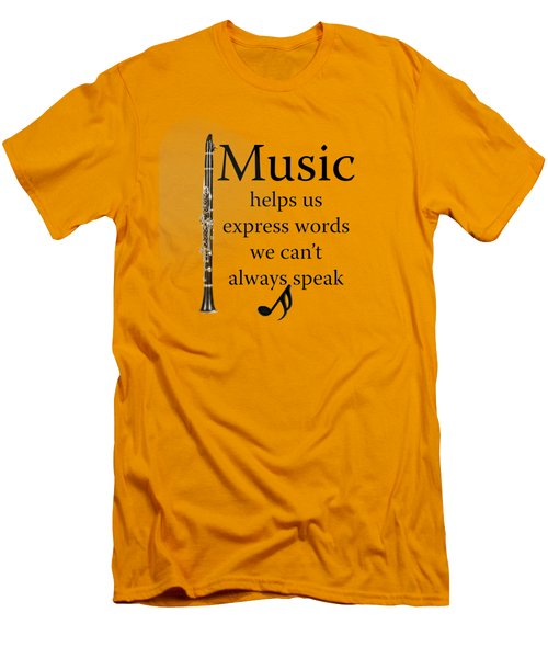 Clarinet Music Expresses Words Men's T-Shirt (Slim Fit) by M K  Miller