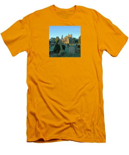 Clear Light In The Graveyard Men's T-Shirt (Slim Fit) by Anne Kotan