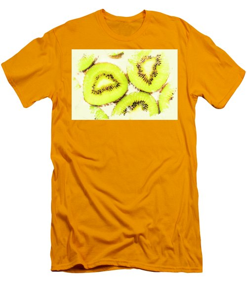 Close Up Of Kiwi Slices Men's T-Shirt (Slim Fit) by Jorgo Photography - Wall Art Gallery