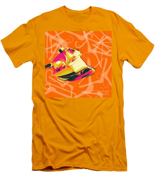 Clothes Iron Pop Art Men's T-Shirt (Athletic Fit)