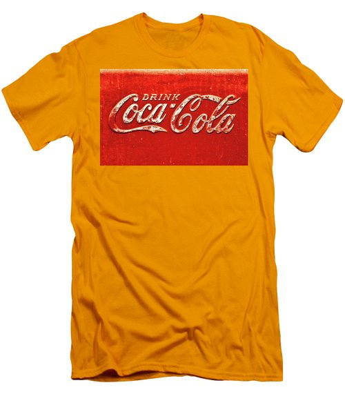 Coca Cola Rustic Men's T-Shirt (Slim Fit) by Stephen Anderson