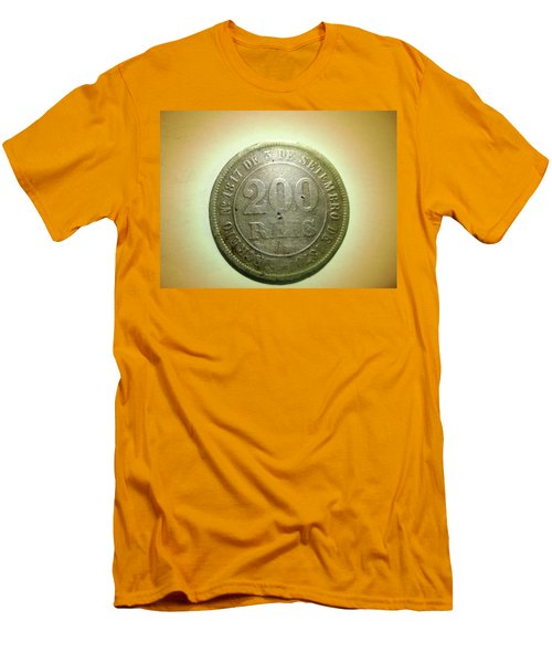 Men's T-Shirt (Slim Fit) featuring the photograph Coin Series - Brazil by Beto Machado