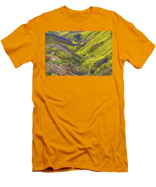 Men's T-Shirt (Slim Fit) featuring the photograph Color Valley by Peter Tellone