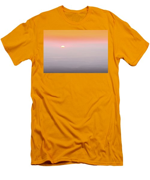 Colorful And Smoky Carolina Sunrise Men's T-Shirt (Slim Fit) by Serge Skiba