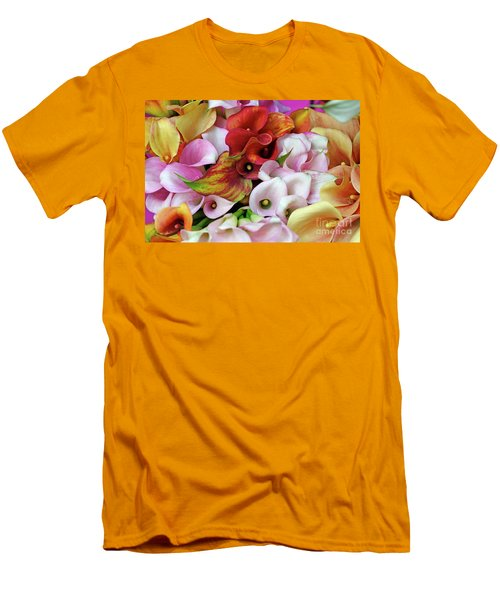Colorful Calla Lilies Men's T-Shirt (Athletic Fit)