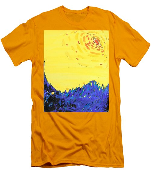 Men's T-Shirt (Slim Fit) featuring the painting Comet by Lenore Senior