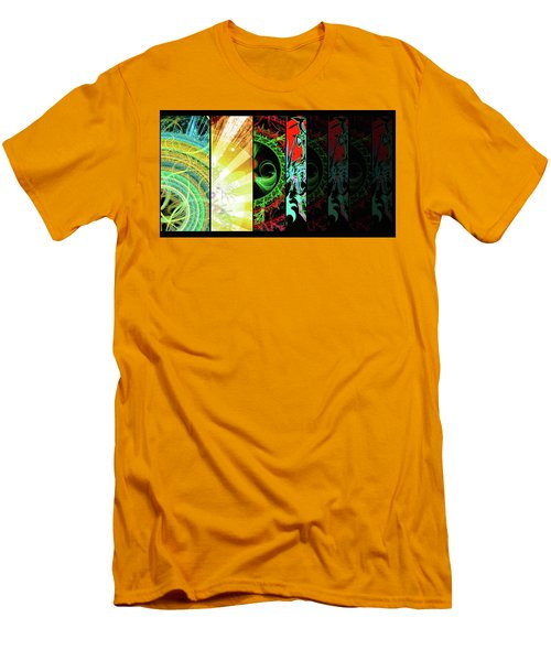 Men's T-Shirt (Athletic Fit) featuring the mixed media Cosmic Collage Mosaic Right Side by Shawn Dall