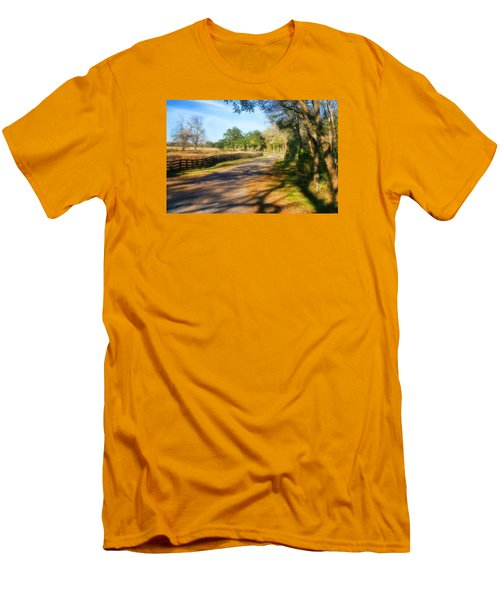Men's T-Shirt (Slim Fit) featuring the photograph Country Road by Joan Bertucci