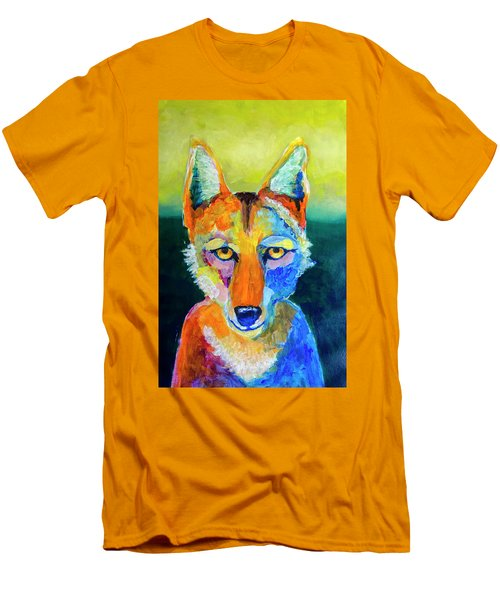 Coyote Men's T-Shirt (Slim Fit) by Rick Mosher
