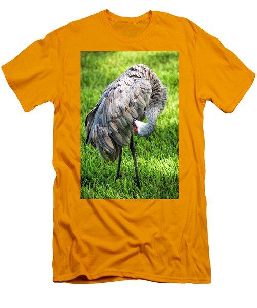 Crane Down Under Men's T-Shirt (Athletic Fit)