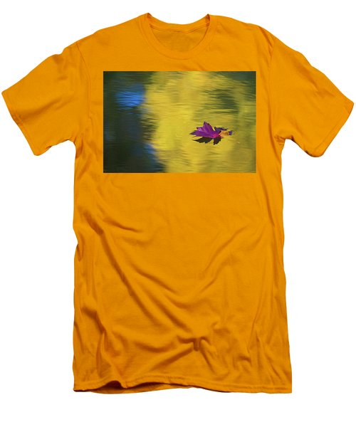 Men's T-Shirt (Slim Fit) featuring the photograph Crimson And Gold by Steve Stuller