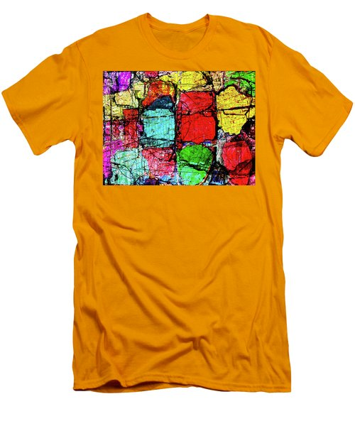 Crumbling Stone Wall Men's T-Shirt (Slim Fit) by Don Gradner