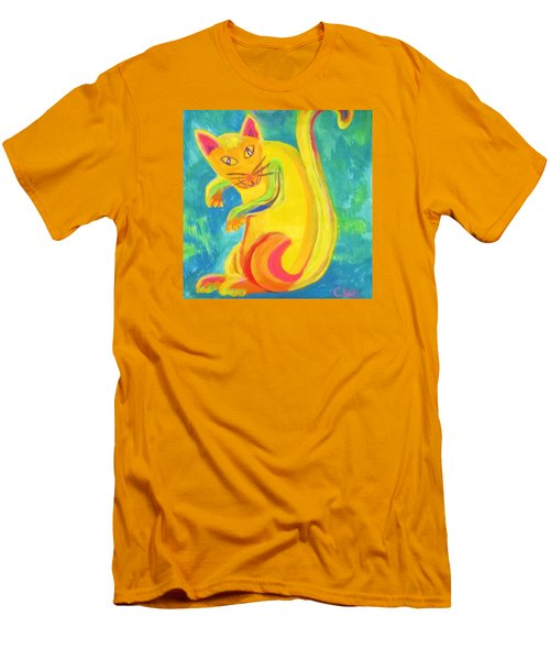 Curious Kitty Men's T-Shirt (Slim Fit)