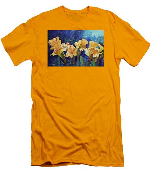 Daffodils Men's T-Shirt (Slim Fit) by Alika Kumar