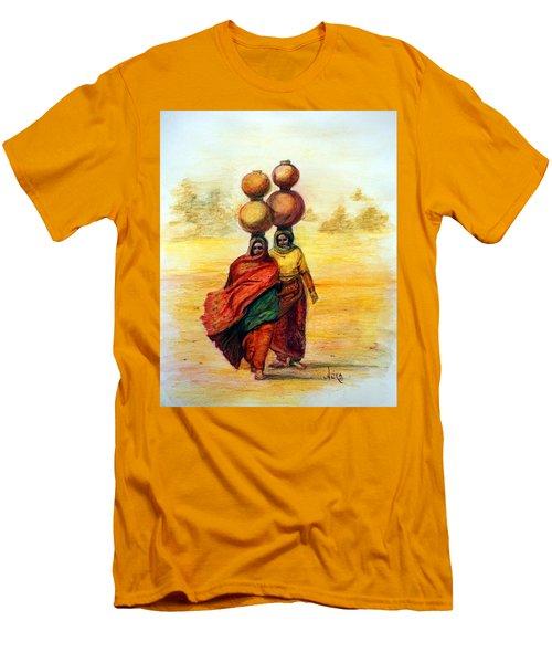 Daily Desert Dance Men's T-Shirt (Slim Fit) by Alika Kumar