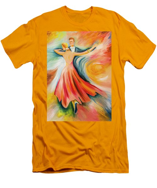 Men's T-Shirt (Slim Fit) featuring the painting Dance Me To The End Of Time by Itzhak Richter